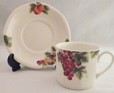 Royal Doulton Everyday Vintage Grape TC 1193 Flat Cup & Saucer Set  1994 (4)