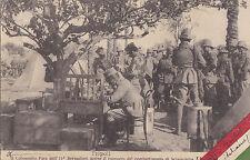 CARTOLINA 1912 TRIPOLI COLONNELLO FARA 11° BERSAGLIERI SCIARA - SCIAT LIBIA 1-51