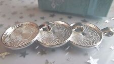 3 CABOCHON SETTINGS 25.MM BRIGHT SILVER PLATED PENDANT CHARM TRAY BEZEL CRAFT