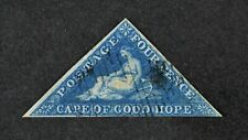 CAPE OF GOOD HOPE, QV, 1855, 4d. deep blue value, SG 6, used condition, Cat £95.