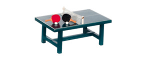 TOY PING PONG TABLE SET 1:24 G SCALE DIORAMA MINIATURE SET!