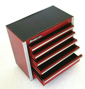 Snap-On New Cranberry Mini Bottom Tool Box 5 Drawers Base Cabinet Chrome Micro