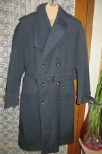 VINTAGE ~  GANT~  Navy ~  Wool Blend/ Removable/Lining TRENCH COAT * Size L *