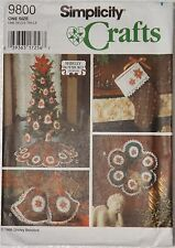 Simplicity 9800 Crafts Sewing Pattern Shirley Botsford Christmas Decorations New