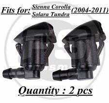 2PC Windshield Wiper Water Spray Jet Washer Nozzle for Toyota Sienna Corolla