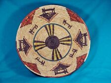 Native American HAND WOVEN POLYCHROME BASKET