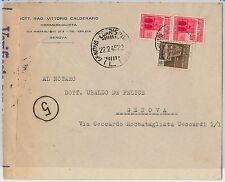 ITALIA RSI  - storia postale: BUSTA per il distretto - GENOVA 22.02.1945