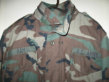 U.S.A. ARMY BDU FATIGUE CAMOUFLAGE COAT HEAVY LINED FIELD MILITARY SIZE MED-LONG