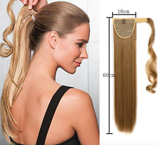 Clip In Around Hair AS HUMAN HAIR Extension Ponytail Pretty nice Seamlees Soft