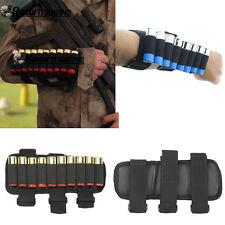 Hunting 10Round Shell Rifle Shotgun Bandolier 12 Gauge 20GA Ammo Arm Holder BK