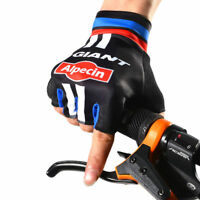 Pro GIANT Alpecin Bicycle Bike Sports Riding Cycle Cycling Half Finger Gloves UK