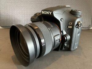 Sony SLT A68 DSLR 24.3 MP Camera And 18-55mm SAM II Zoom Lens
