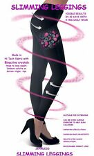 Ladies ANTI CELLULITE CALORIE BURNING SLIMMING LADIES BLACK LEGGINGS SIZES 8-30