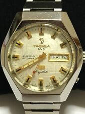Orologio TRESSA Lux Crystal 99 Swiss automatic watch, day/date 21 jewels 1970's