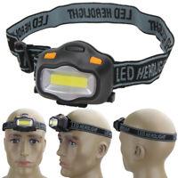 COB LED Stirnlampe 3 Lichtmodi Kopflampe AAA Wasserdicht Headlight Scheinwerfer