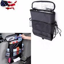 1pc Car Seat Back Multi-Pocket Insulation Storage Bag Holder Black
