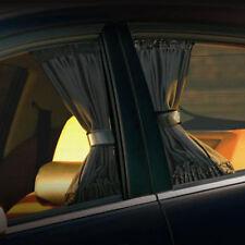 70CM BLACK ADJUSTABLE VIP CAR WINDOW MESH STYLE CURTAIN UV SUNSHADE VISOR PAIR
