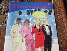 Glamour World Paper Dolls. Precut. 1990. 4 dolls No scissors needed. Unused