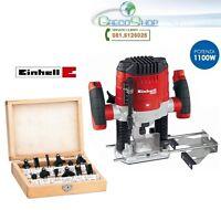 Fresatrice verticale 1100W con set 12 frese in box Einhell - TH-RO 1100 E KIT