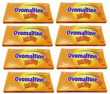 Eight REGULAR Ovomaltine or CHRUNCHY chocolate bars,100 gram,DIRECT from Germany