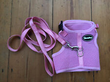 Pink Cat Harness & Lead Set size Large