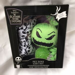 Disney Nightmare Before Christmas Pet Toys Little Dogs 2 Toys 1 Ball 1 Rope