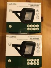 2x Luceco Guardian Slim LED Floodlight Outdoor Security Flood Light IP65 New