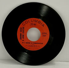 JOHNNY CASH & JUNE CARTER- CAUSE I LOVE YOU- 45 RPM ROCK VG+ SINGLE 7 INCH (A20)