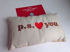 Hallmark PS ❤️ LOVE YOU Pillow Card Plush Greeting Gift Holder Valentines Day