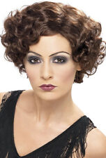20 FLAPPER Diva Perruque marron NEUF - Carnaval perruque cheveux