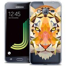 Cover Custodia Per Samsung Galaxy J3 2016 (J320) Polygon Animale Rigido Fine T