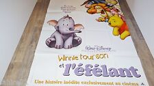 WINNIE L'OURSON l'efelant  ! affiche cinema disney animation