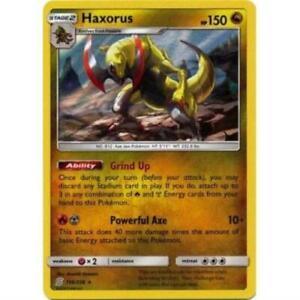 SM Unified Minds 156/236 Haxorus Holo Rare