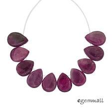 10 Pink Tourmaline Flat Teardrop Pear Beads ap. 7x10mm #84076