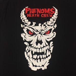 Undertaker Phenoms Death Crew Large Black 2-sided T-shirt Wrestling WWE WWF ECW