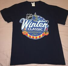 2015 Winter Classic Washington Capitals T Shirt Navy Sz M Lineup List Blackhawks