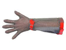 Euroflex Kettenhandschuh Stechschutzhandschuh mit 19 cm Stulpe Gr. M (rot) NEU