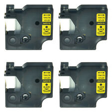 """4PK 45018 Black on Yellow Label Tape Cassette For Dymo D1 Labelmanager 260P 1/2"""""""
