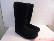WOMENS LADIES CLASSIC  UGG AUSTRALIA CALF HIGH BLACK BOOTS SZ 9 PRE-OWNED