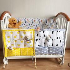 Baby Cot Crib Bed Bedside Hanging Storage Bag Multi-pocket Bedding Organizer Bag