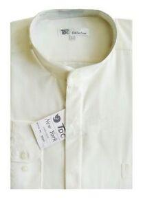 Mens' mandarin collar ( banded collar) dress shirt by Fotino Landi  Style SG01