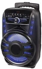 KARAOKE CASSA AMPLIFICATA 600 W P.M.P.O Microfono Bluetooth Usb Sd Telecomando