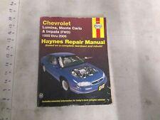 Haynes Chevrolet Lumina, Monte Carlo, Impala Repair Manual 1995 thru 2005