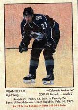 2002-03 Parkhurst Retro Minis #79 Milan Hejduk