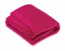Bronte by Moon Distinction Luxury Cactus Pink Mohair Throw Blanket - RRP £125