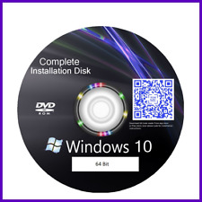 Windows 10 64 bit all version repair recovery reinstall disc plus instructions