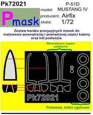 P-51 D MUSTANG PAINTING MASK TO AIRFIX KIT #72021 1/72 PMASK
