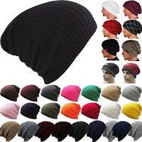 Unisex Winter Warm Oversized Slouch Beanie Hat Knitted Skull Cap For Men Women