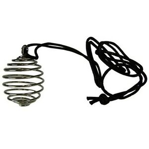 Large Silver Spiral Cage With Cord Gemstone Tumblestone Crystal Necklace 20-30mm