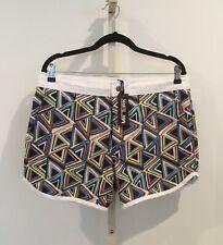 NWT MR TURK Size 34 Men's Multi Color Geometric Swim Trunks / Board Shorts